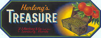 CRATE LABEL VINTAGE FLORIDA 1930S STRIP LEESBURG TREASURE CHEST PIRATE ORIGINAL
