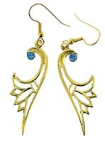 Egyptian Lotus /  Flower of Ancient Egypt / Austrian Crystal  Earrings / Large