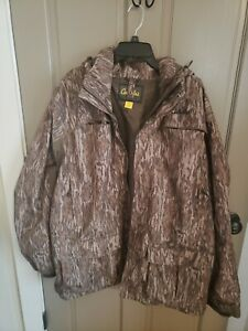 Mens Cabela's Hooded Thermolite Waterproof Hunting Jacket W/ zipout Liner XL EUC