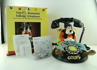 Talking Animated Goofy Telephone Rare Vintage Disney Collectible Phone In Box