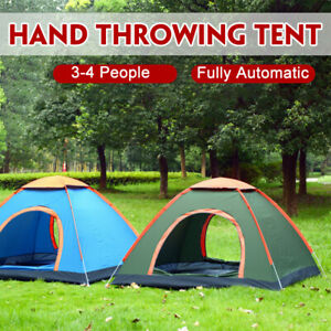 3-4 People Waterproof Automatic Outdoor Instant Up  Camping Hiking UV