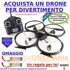 Drone quadrirotore elicottero X4 quadricottero radiocomando LCD telecamera U818A