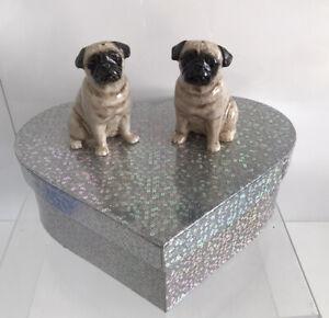 Pug Dog Salt and Pepper Pots  Cruet Set NEW Unused Boxed Collectors Item