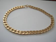 HEAVY CURB LINK  CHAIN  GOLD  METAL SIZE 18 inch