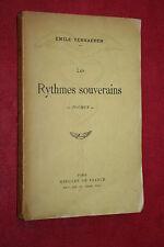 LES RYTMES SOUVERAINS POEMES par EMILE VERHAEREN éd. MERCURE DE FRANCE 1929