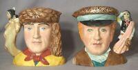 ROYAL DOULTON D7234  D7235 Pair of Character Jugs LEWIS & CLARK 2004 LE 1000