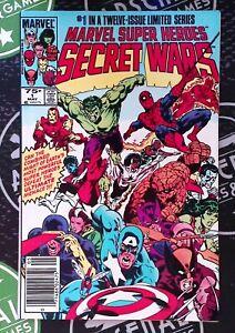 Marvel Super Heroes Secret Wars #1 1984 Blue Galactus error Newsstand Ed NM- 9.2