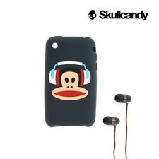 NUOVO Originale Skullcandy Paul Frank Riot Auricolari e custodia iPhone 3GS-Nera
