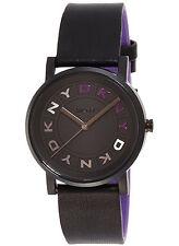 NEW DKNY NY2389 Soho Black Leather Strap Women's Watch