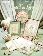 Leisure Arts 304 UNITED IN LOVE Marriage Samplers & Accessories for Cross Stitch