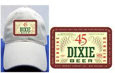 DIXIE 45 BEER LABEL BALL CAP