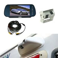 "Rear view system 7"" Mirror Monitor & Double twin CCD Camera and Protective Cowl"