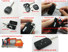 3 Buttons Remote Flip Folding Uncut Key Shell Case Cover For Ford Mazda 3BT 3B