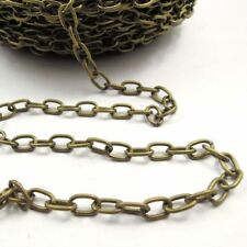 5m Retro Bronze Iron Metal Simple Design Link Chains Jewelry Accessories 31870