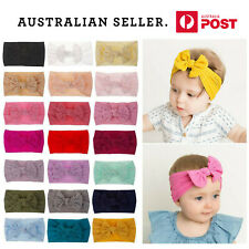 *NEW* Baby Bow Headband Girl Infant Toddler Newborn Soft Knot Turban Hair Wrap