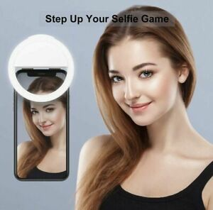 LED Selfie Ring Light Pink Cell Phone Holder Stand for Live Stream and Makeup