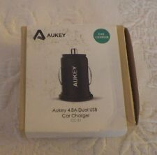 Aukey Car Charger 4.8A Dual Usb Cc-S1 Black New
