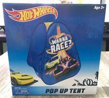 NIB Hot Wheels Pop Up Kids Toy Play Race Car Wanna Race Tent