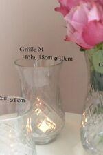 Vase Molly Marais Hurricane Gr.M Glasvase Schliff Windlicht Massiev H18cm Glas