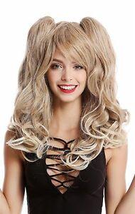 Perruque Cosplay 2 Pigtails Long Ondulés Gothique Lolita Japon Blond Mix