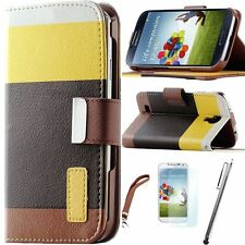 Shockproof Flip Wallet Leather Card Case Stand Cover For Samsung Galaxy S4 i9500