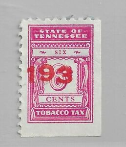HICK GIRL- USED U.S. STATE REVENUE  6 CENT TENNESSEE TOBACCO TAX     R186
