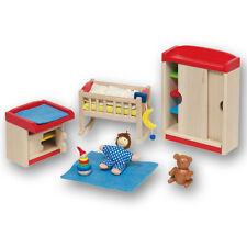 Goki 51905 Puppenhausmöbel Kinderzimmer für Puppenhaus Holz