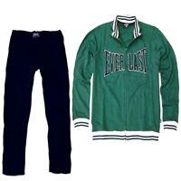 Tuta da uomo sportiva Everlast completo giacca felpa zip pantalone sport felpata