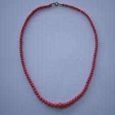 Wunderschöne antike lachsfarbene Korallenkette Beautiful Antique Coral Necklace