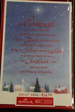Hallmark Bring Us Faith Hope & Love Holiday Christmas Cards 40 Boxed Set