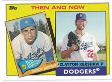 2017 Topps Throwback Thursday Los Angeles Dodgers Sandy Koufax & Clayton Kershaw