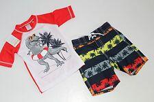 Gymboree Baby Boys Dinosaurs Rash Guard Top Trunks Shorts Size 18-24 Months NWT