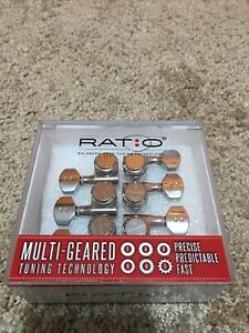 Graph tech Ratio Locking Staggered Guitar Tuners 6 In Line With UMP