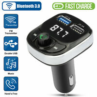 Bluetooth In-Car Wireless FM Transmitter Kit MP3 USB Charger Adapter Hands-free