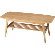 Wooden Center Coffee Table Living Under Rack Shelf Storage HOT-534NA AZUMAYA NEW