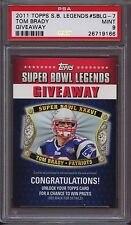 2011 Topps Super Bowl Legends Giveaway Sblg-7 Tom Brady  PSA 9 Mint