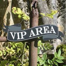 VIP AREA, VIP Scroll Shaped Sign, Outdoor Pub Sign, Garden Sign,Hanging Bar Sign