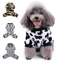 Pet Dog Cat Jumpsuit Pajamas Clothes Puppy Sweater Jumper Warm Costume Apparel