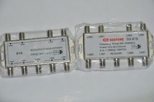 Lot of 12 Diseqc switches 8 in 1 Multi-protocol programmable