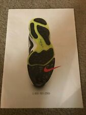 Vintage 1996 NIKE AIR ZOOM Shoes Poster Print Ad 1990s RARE