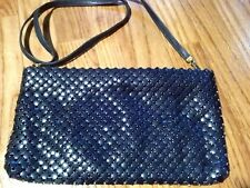 Vintage Whiting and Davis Blue Mesh Purse Shoulder Bag Whiting and Davis Intl
