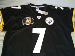 Throwback* ROETHLISBERGER #7* Steelers*Reebok*Jersey w/75th Patch (56) 3XL*NEW*