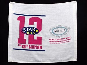 Seattle Seahawks Star 101.5 12th Woman Rally Towel 2014 Michelle Sparkling Wines