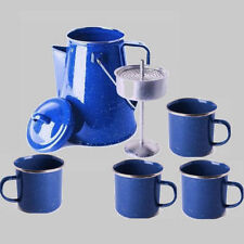 Percolator Coffee Tea Pot 4 Cup Set Camping Gear Fire Outdoor Stove Boil Water