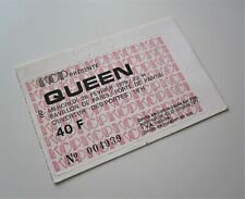 QUEEN : 1979 Paris France Concert Ticket Stub Live Killers Tour Freddie Mercury