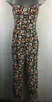 BNWT WOMENS SHOP DIRECT MULTICOLOUR FLORAL STRAPLESS BONED FITTED JUMPSUIT UK 8