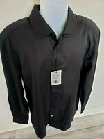 NWT Robert Graham Black Lambert Dress Shirt 100% Cotton Size 43 Neck 17 Shirt XL