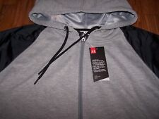 Under Armour UA Favorite French Terry Hoodie GRAY HEATHER/BLACK Women's Lg ~ $75