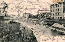 AK GRUSS AUS ÖSTERREICH SCHLESIEN JÄGERNDORF PARTIE a d OPPA STRASSENANSICHT1907