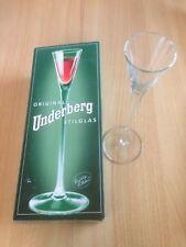 Underberg Stilglas Portionsglas im Karton mit Gravur ca. 24 cm.